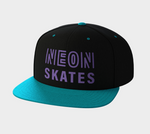 Purple & Teal Snapback Hat