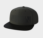 Black on Black Snapback Hat