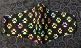 Rainbow Paws Face Mask with ear loops - Free shipping