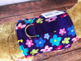 Colorful Posies Dog Walking Harness