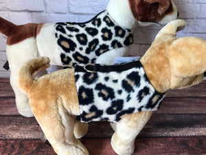 Leopard Spots fleece Dog Walking Harness