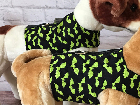 Green bats Halloween Dog Walking Harness