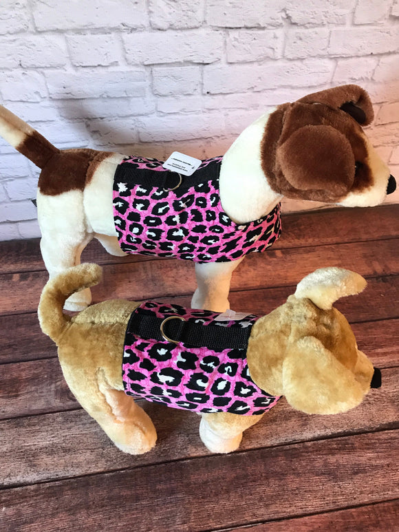 Pink Leopard Dog Walking Harness