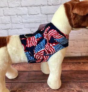 Flannel Flags Dog Walking Harness