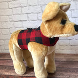 Red Buffalo Plaid Dog Walking Harness