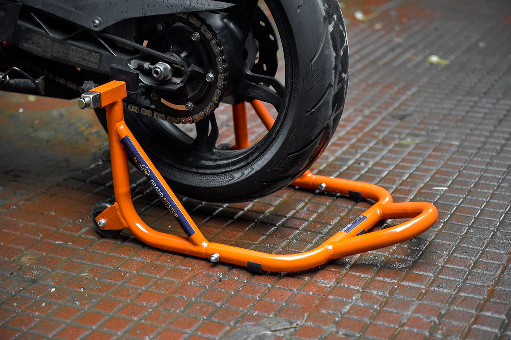 Rear Paddock Stand - both spool and non spool motorcycles - KTM Color