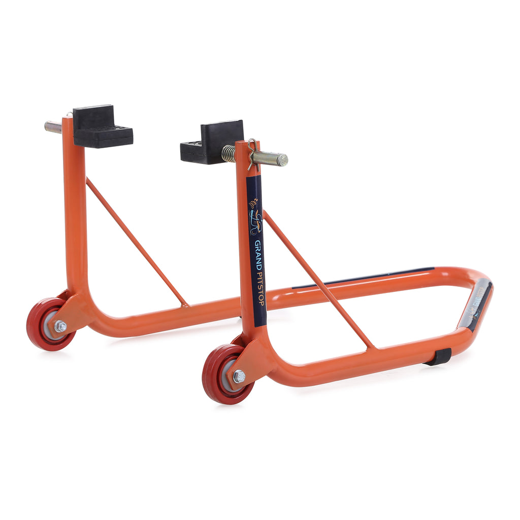 GrandPitstop Rear Paddock Stand with Swingarm Rest - Orange