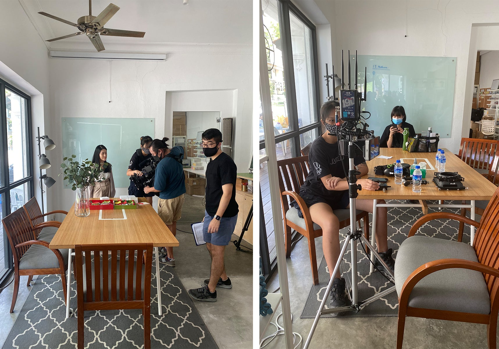 Behind the scenes snippets for EDEN + ELIE x Made With Passion