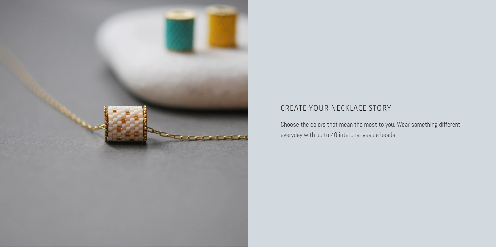 make your own necklace bar