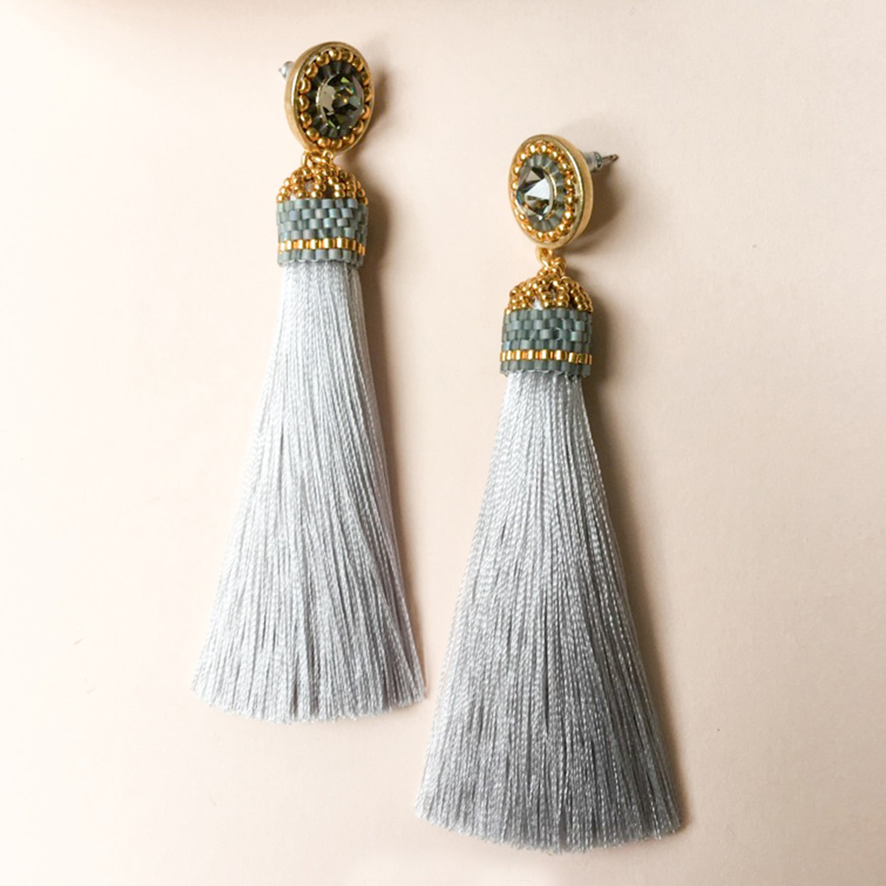 Tassel earrings made from ethically sourced materials