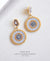 EDEN + ELIE double circle statement drop earrings - frost blue
