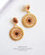 EDEN + ELIE double circle statement drop earrings - smoked topaz