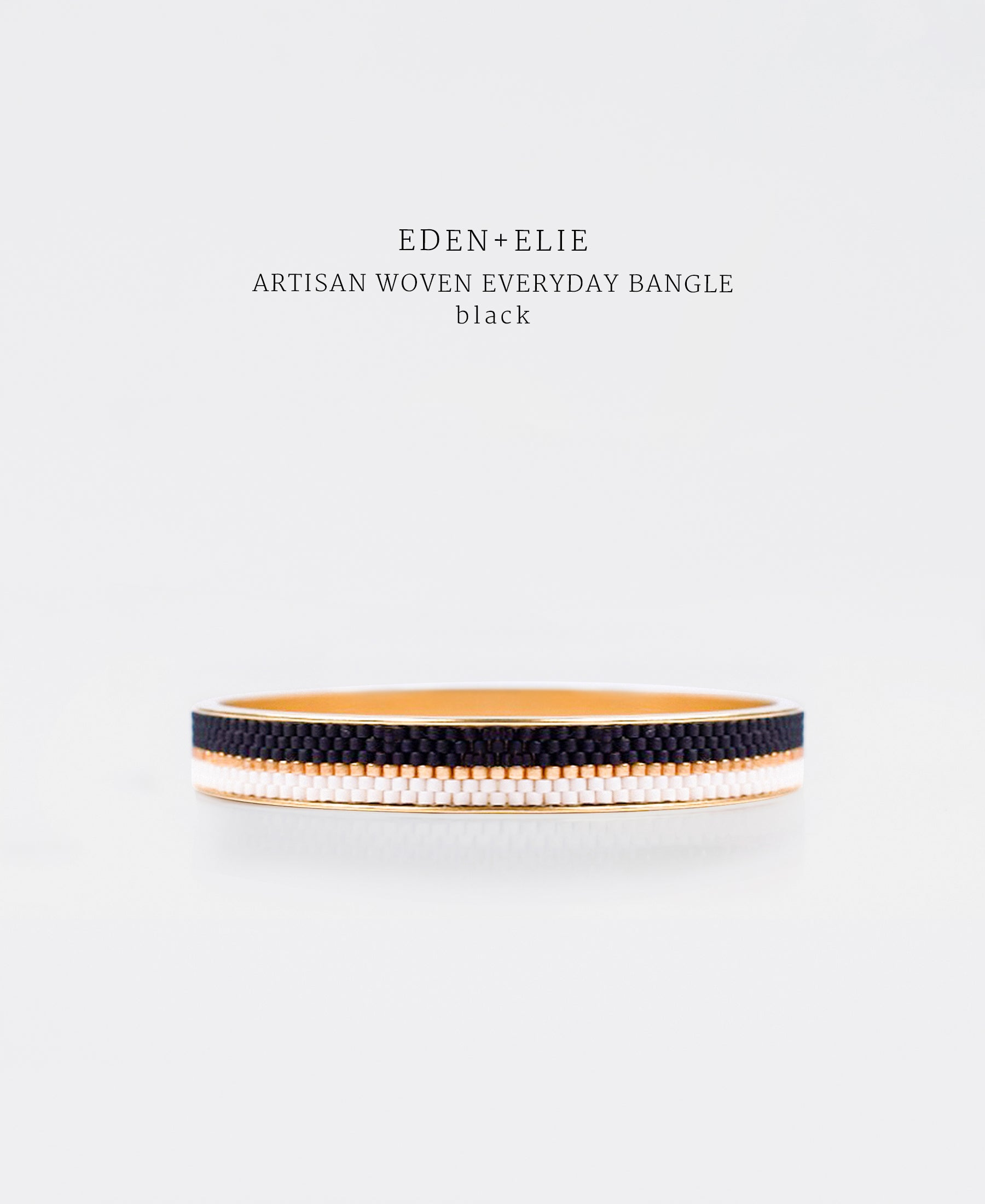 EDEN + ELIE Everyday gold narrow bangle - basic black