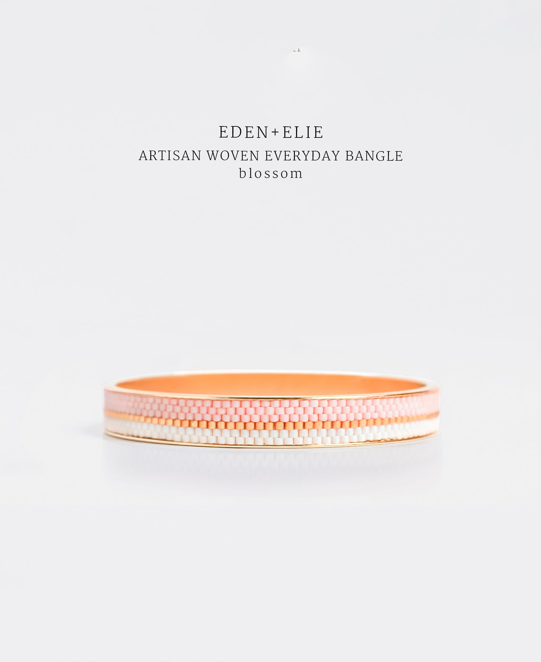 EDEN + ELIE Everyday gold narrow bangle - blossom pink