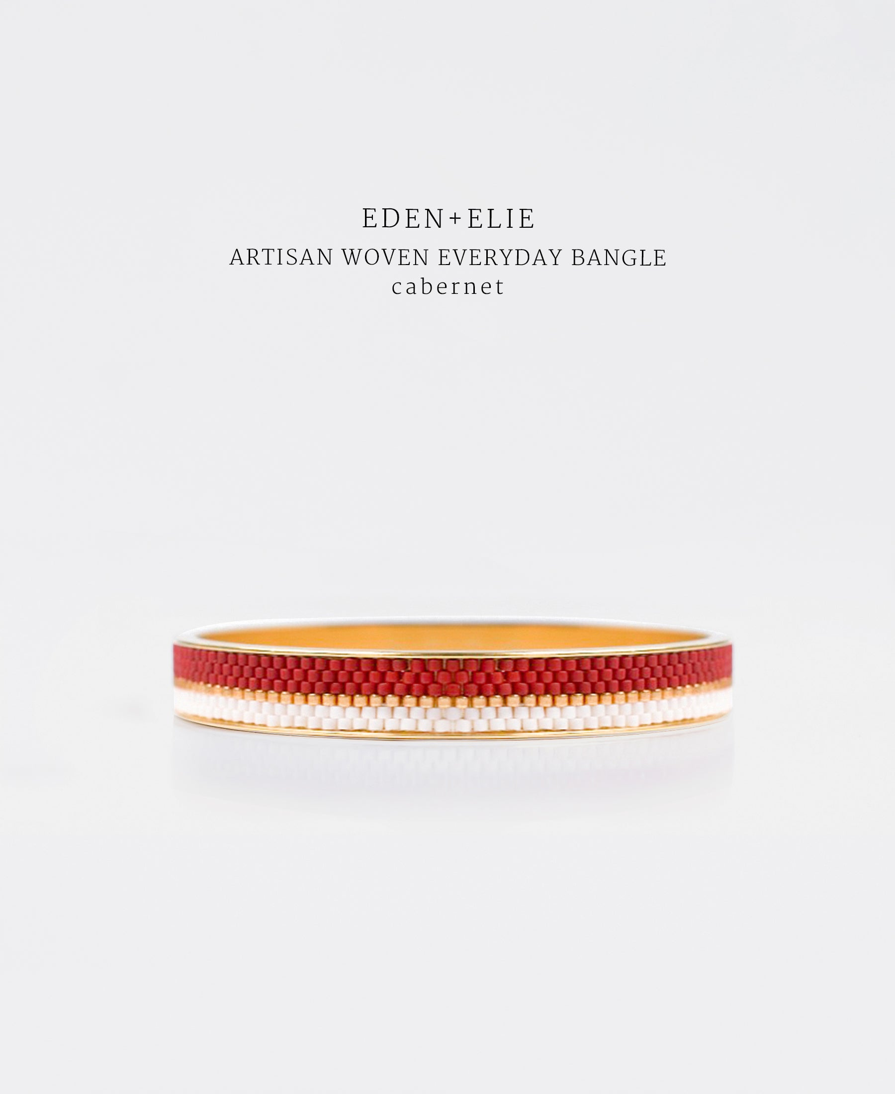 EDEN + ELIE Everyday gold narrow bangle - cabernet red