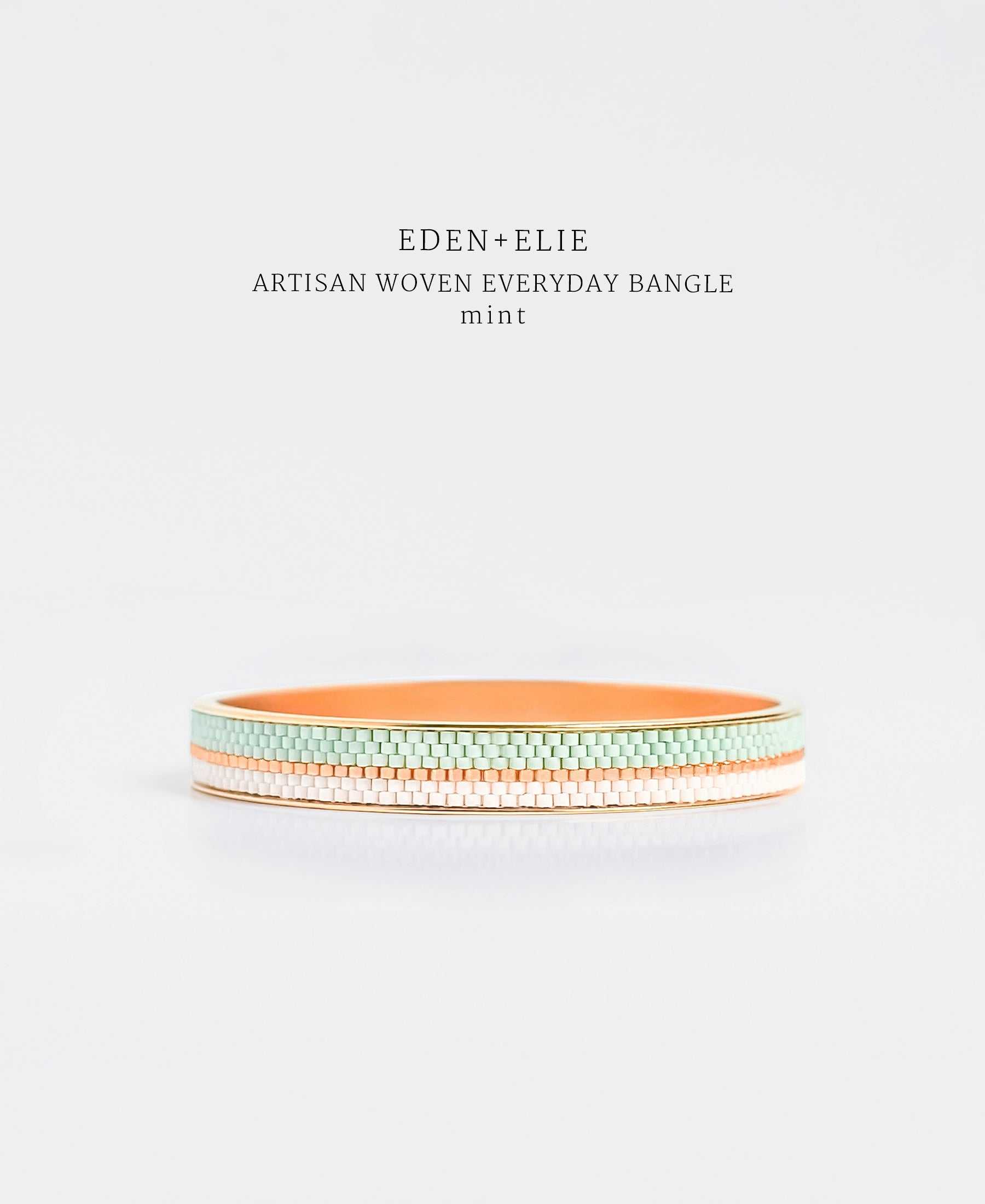 EDEN + ELIE Everyday gold narrow bangle - mint green