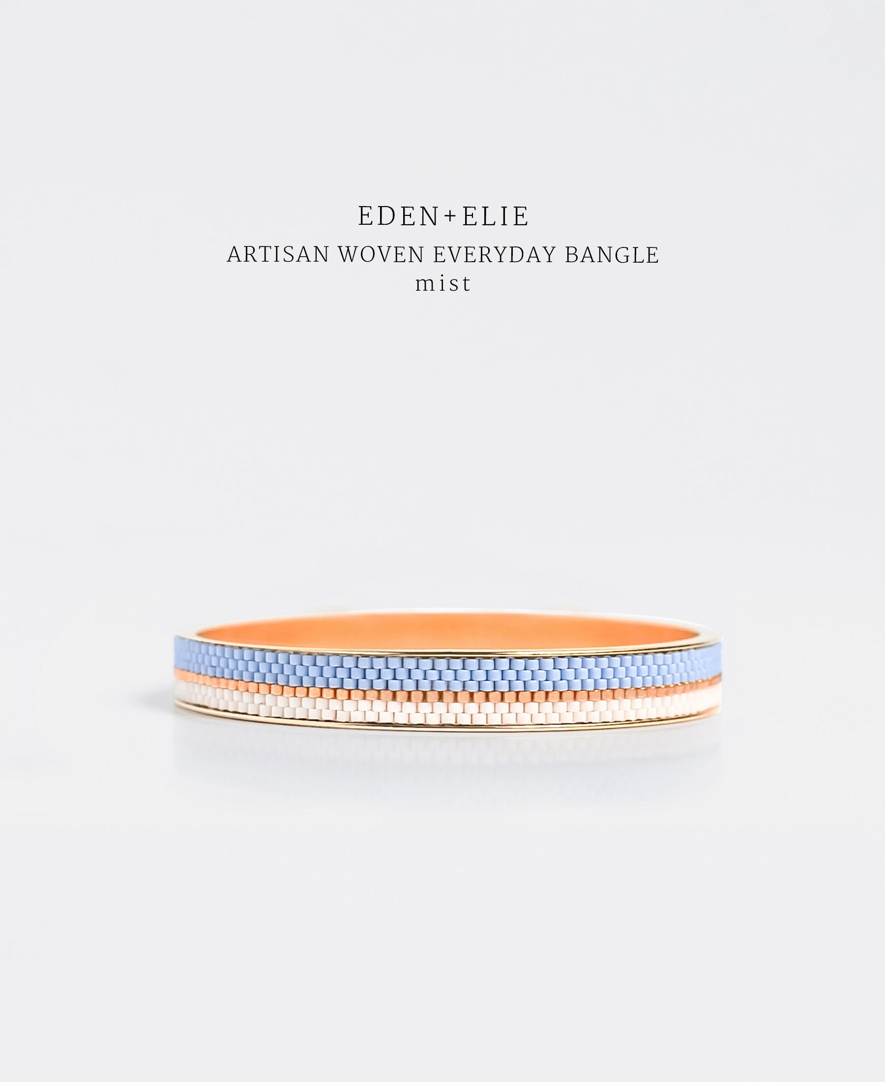 EDEN + ELIE Everyday gold narrow bangle - mist blue