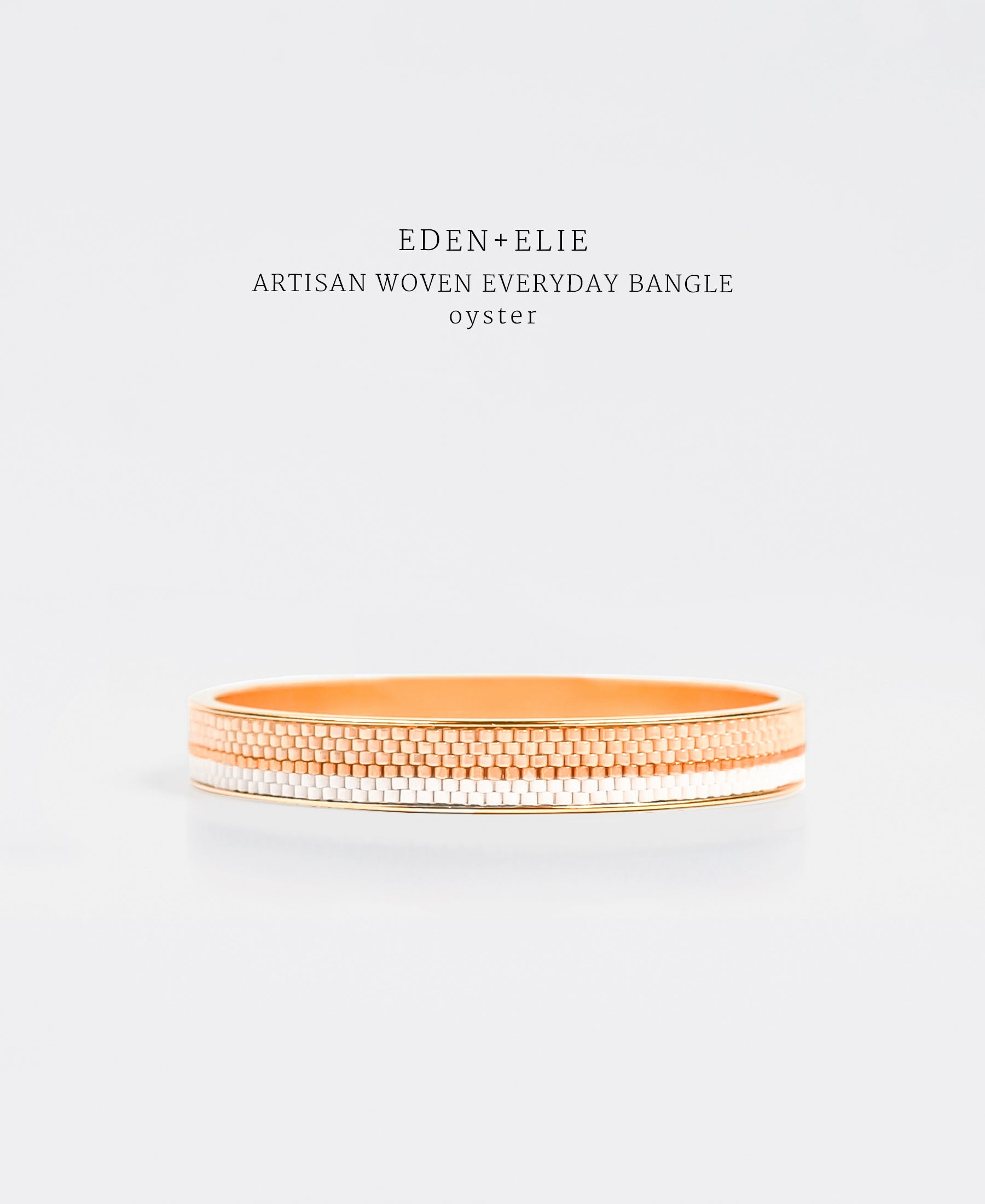 EDEN + ELIE Everyday gold narrow bangle - light oyster