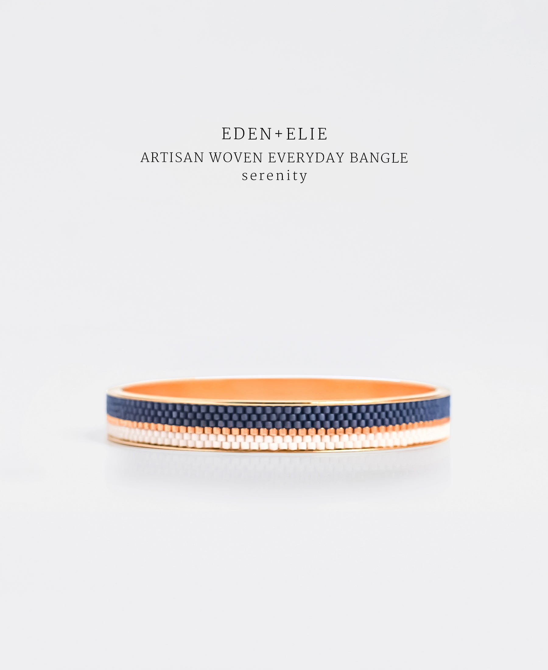 EDEN + ELIE Everyday gold narrow bangle - serenity blue