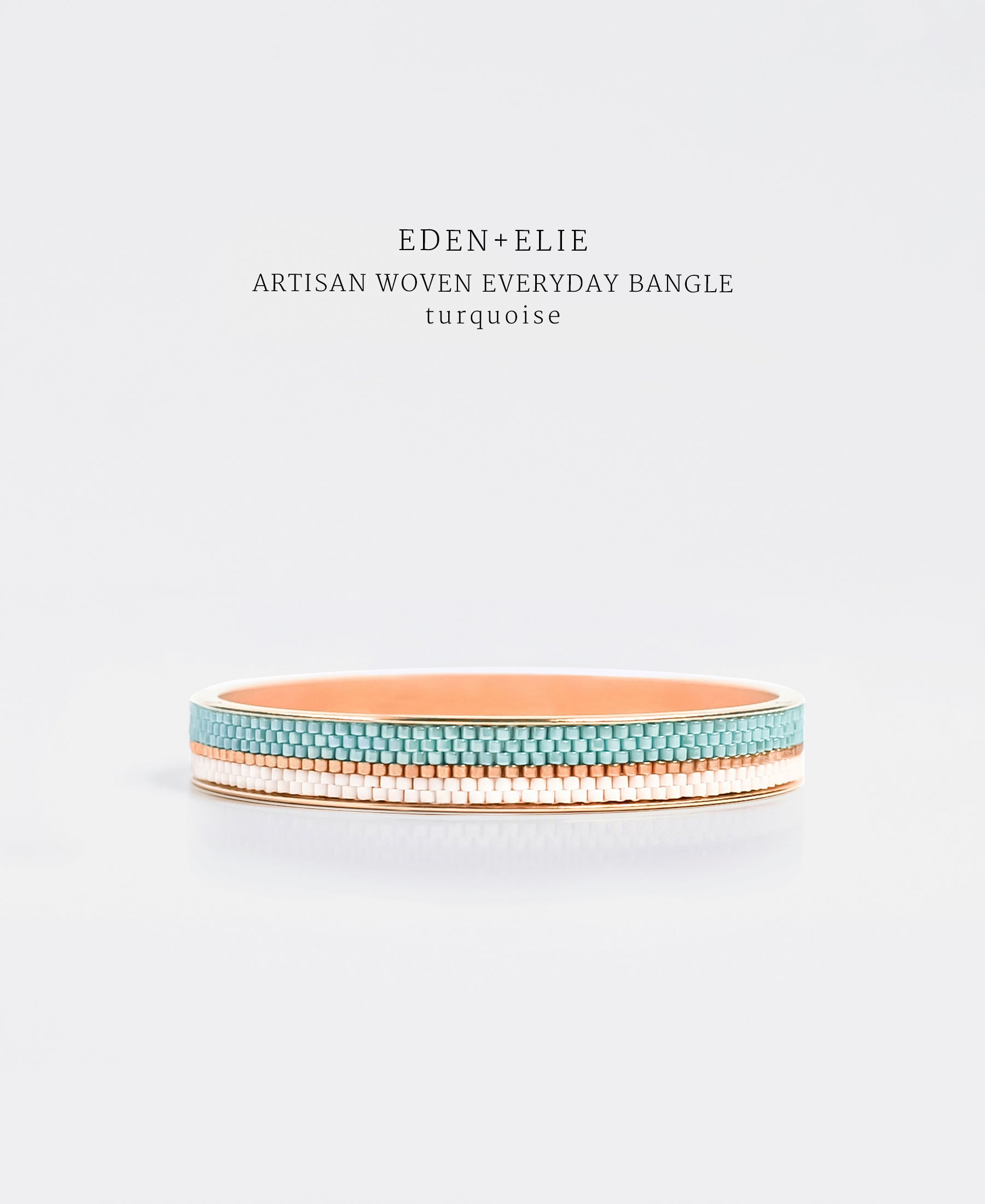 EDEN + ELIE Everyday gold narrow bangle - turquoise