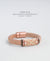 EDEN + ELIE handwoven thick leather bracelet - country brown