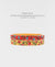 EDEN + ELIE Modern Peranakan gold narrow bangles set of 2 - vermilion + yellow