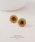 EDEN + ELIE Andromeda stud earrings - amber