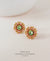 EDEN + ELIE Andromeda stud earrings - carnelian