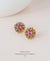 EDEN + ELIE Andromeda stud earrings - iris