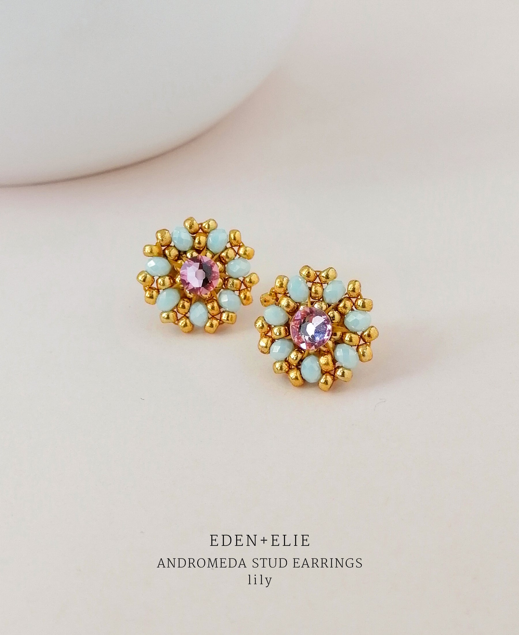 EDEN + ELIE Andromeda stud earrings - lily