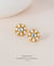 EDEN + ELIE Andromeda stud earrings - snow