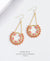 EDEN + ELIE Celestia swing earrings - capella pink