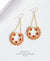 EDEN + ELIE Celestia swing earrings - flame red