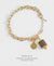 EDEN + ELIE Everyday gold charm bracelet - black gold striped