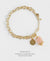 EDEN + ELIE Everyday gold charm bracelet - blossom gold striped