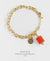 EDEN + ELIE Everyday gold charm bracelet - coral red