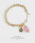 EDEN + ELIE Everyday gold charm bracelet - lilac purple