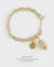EDEN + ELIE Everyday gold charm bracelet - mint gold striped