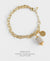 EDEN + ELIE Everyday gold charm bracelet - mist gold striped