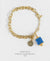 EDEN + ELIE Everyday gold charm bracelet - royal blue