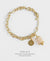 EDEN + ELIE Everyday gold charm bracelet - white gold striped