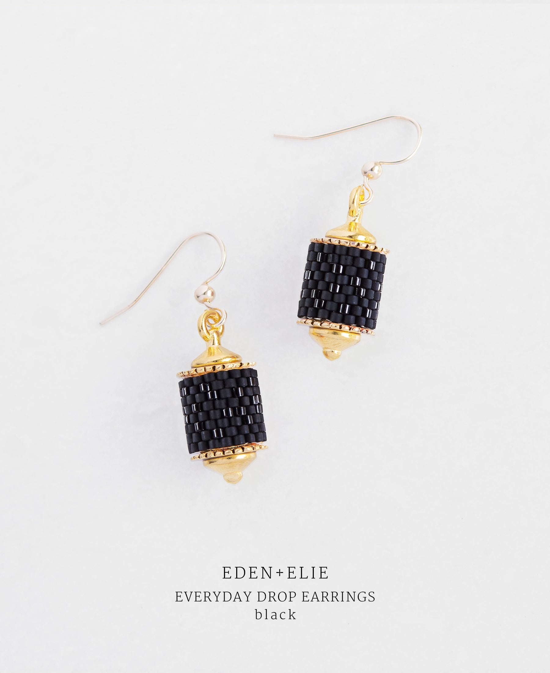 EDEN + ELIE Everyday drop earrings - basic black