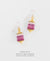 EDEN + ELIE Everyday drop earrings - blossom dahlia gradient