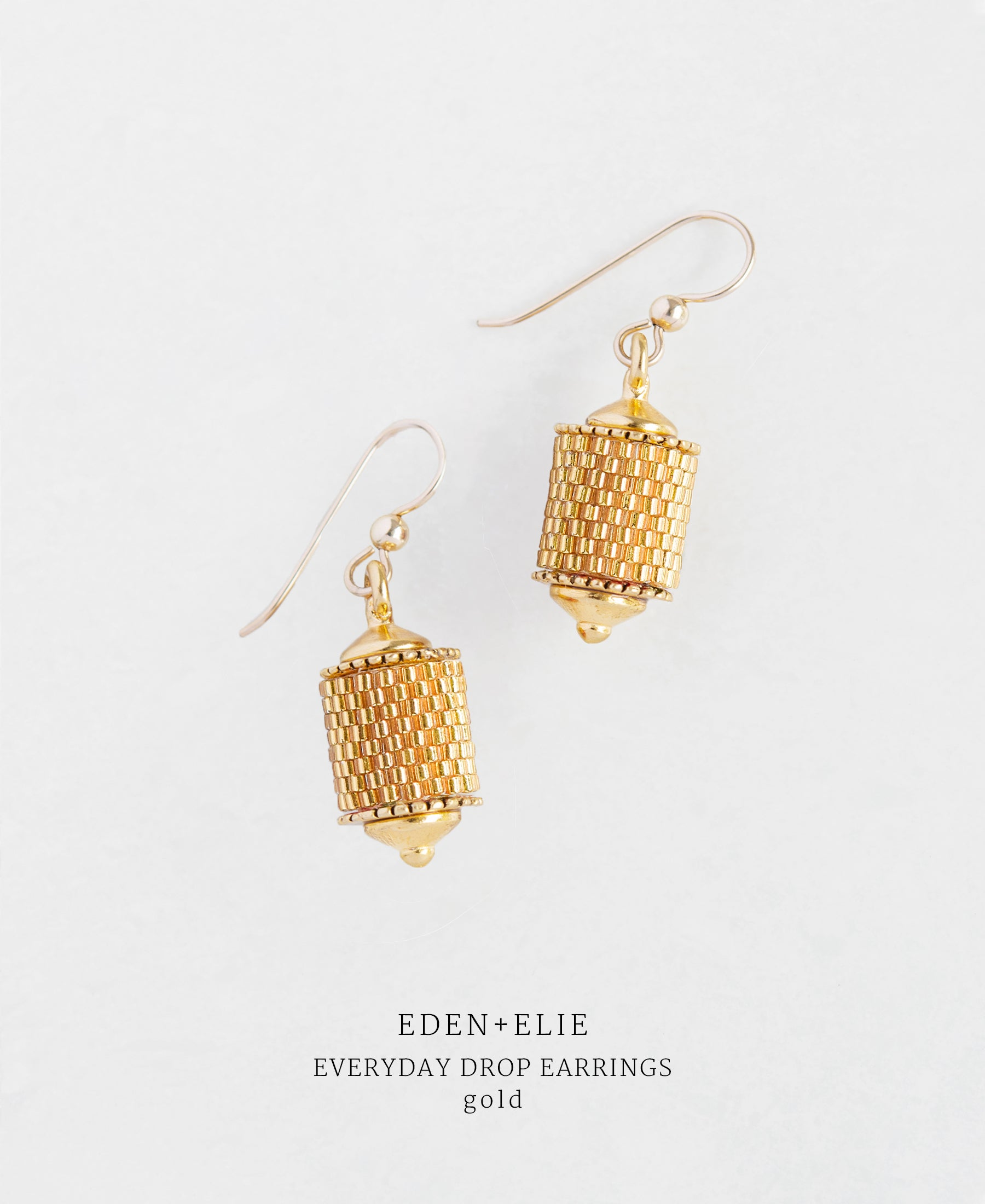 EDEN + ELIE Everyday drop earrings - gold