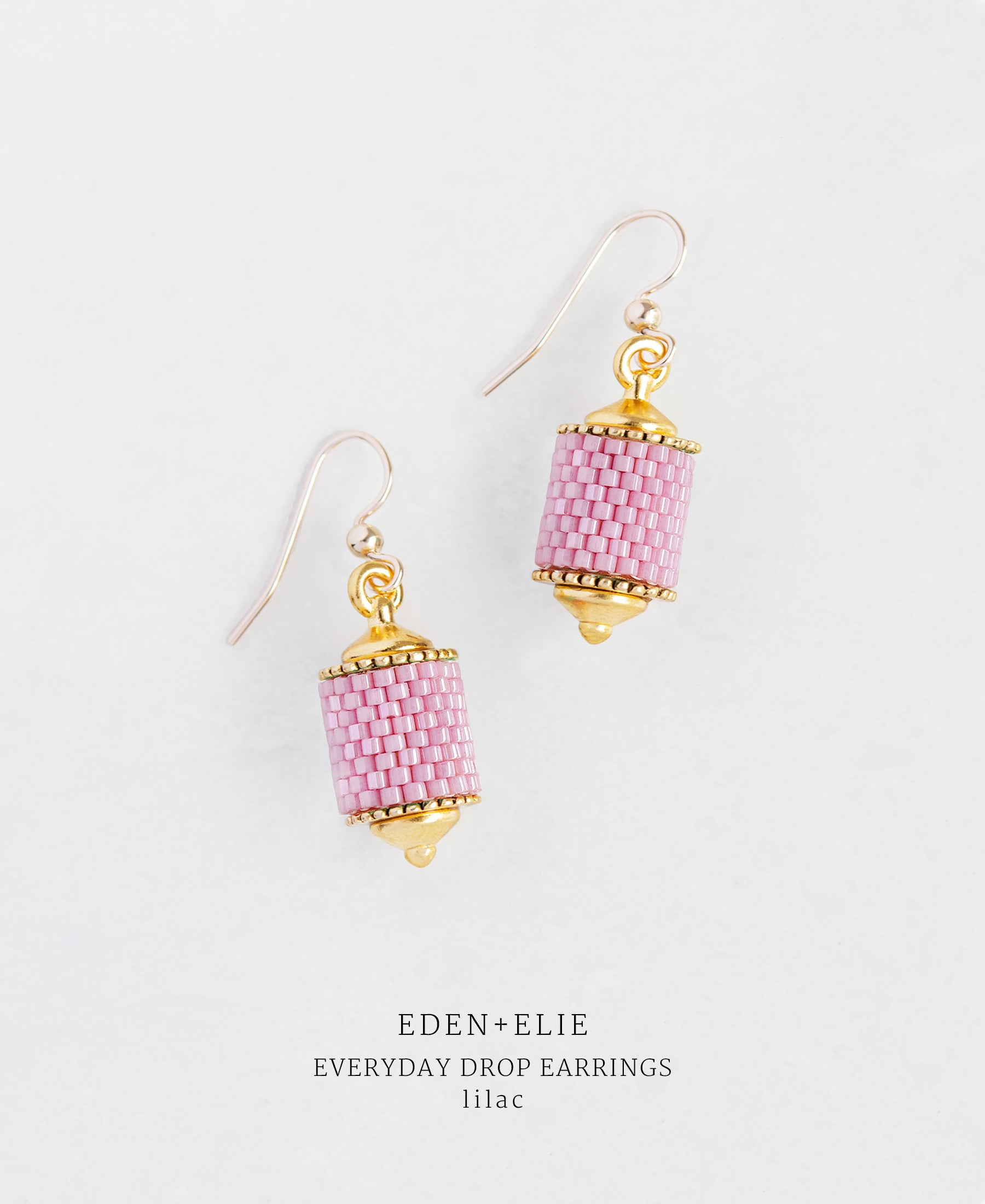EDEN + ELIE Everyday drop earrings - lilac purple