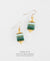 EDEN + ELIE Everyday drop earrings - mint emerald gradient