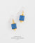 EDEN + ELIE Everyday drop earrings - royal blue