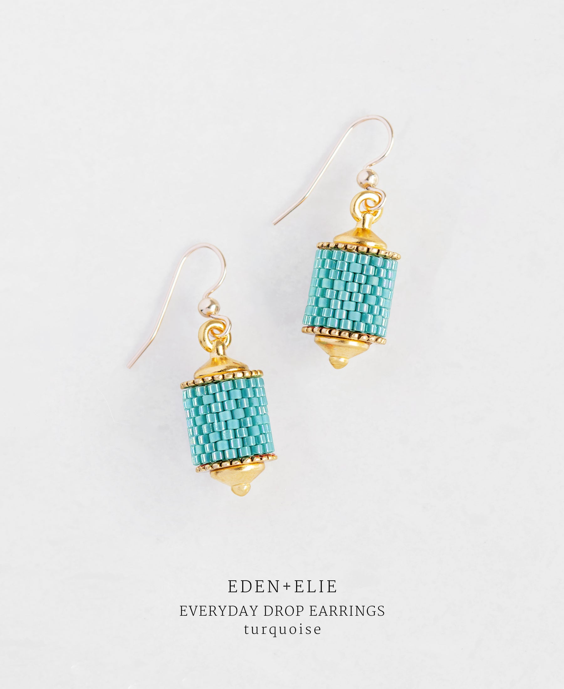EDEN + ELIE Everyday drop earrings - turquoise