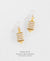 EDEN + ELIE Everyday drop earrings - white gold striped