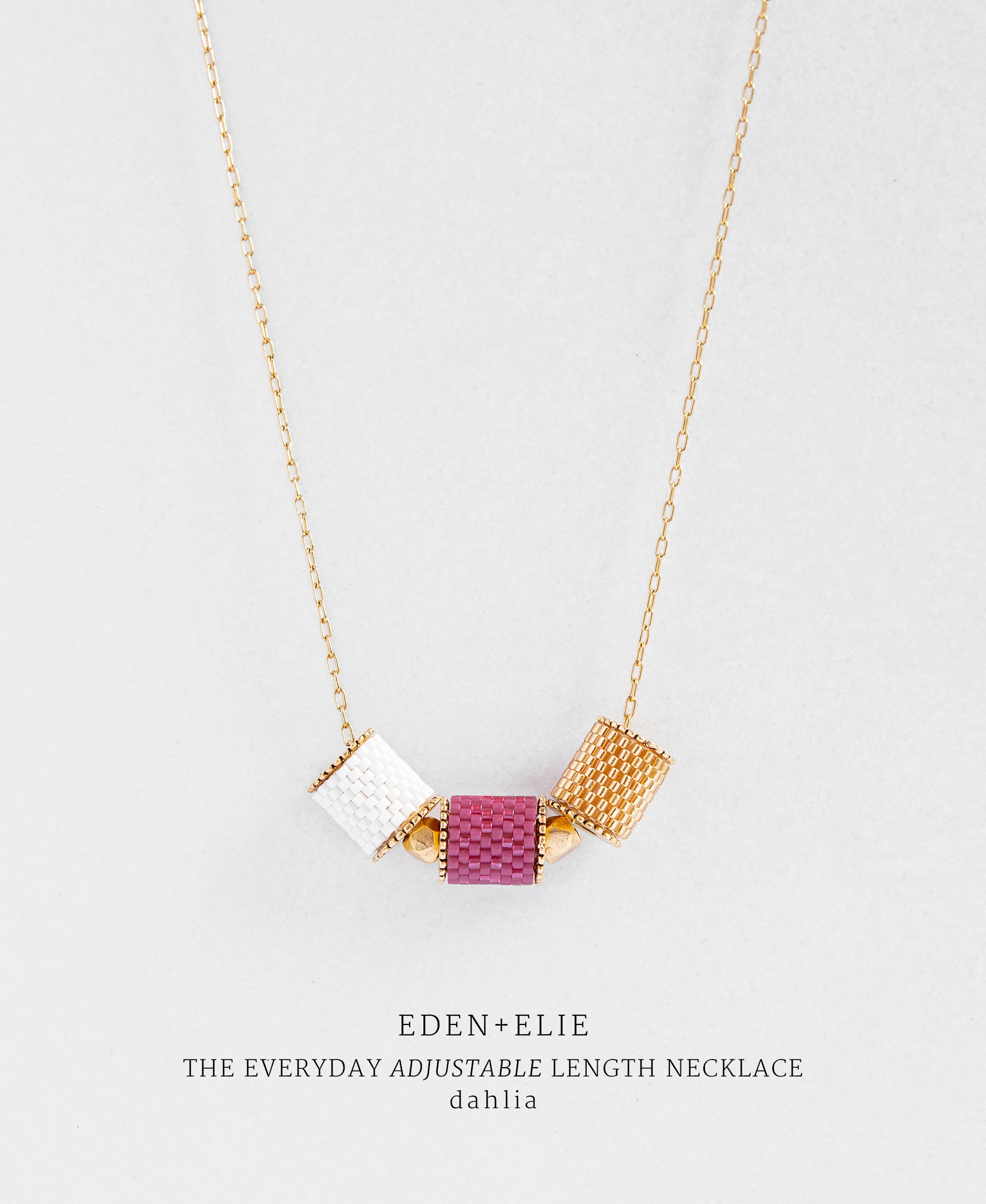 EDEN + ELIE Everyday adjustable length necklace - dahlia purple